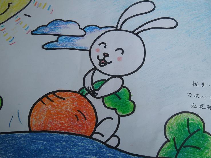 兔子-蜡笔画图集3