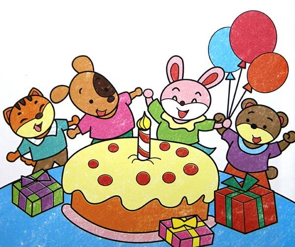 兔子-蜡笔画图集7