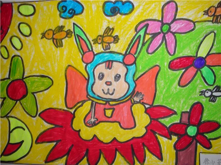 兔子-蜡笔画图集8
