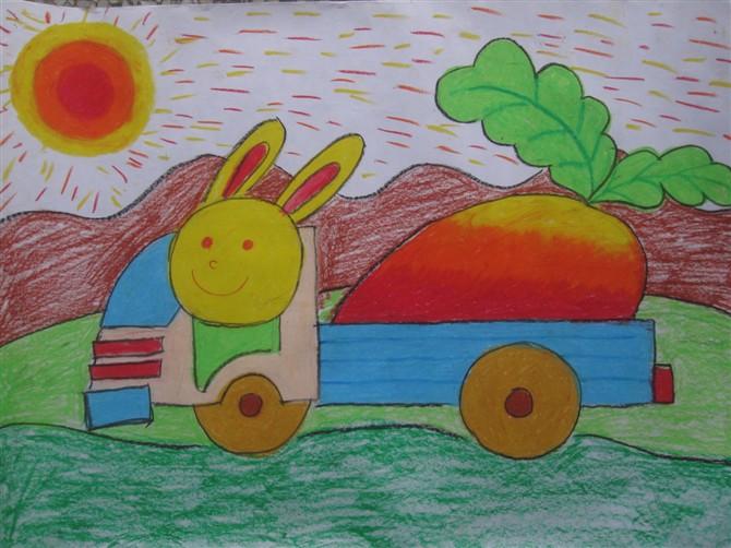 兔子-蜡笔画图集14