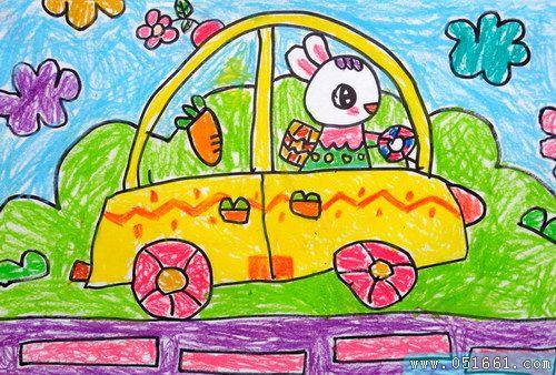 兔子-蜡笔画图集17