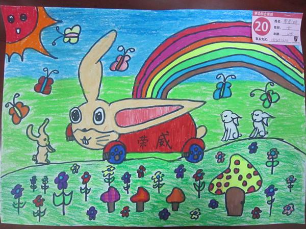 兔子-蜡笔画图集18