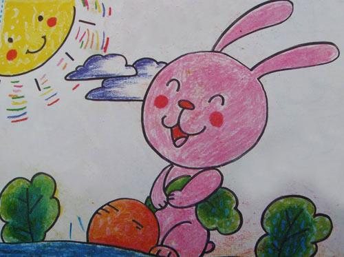 兔子-蜡笔画图集19
