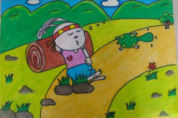 兔子-蜡笔画图集23