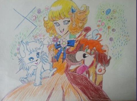 公主-蜡笔画图集2