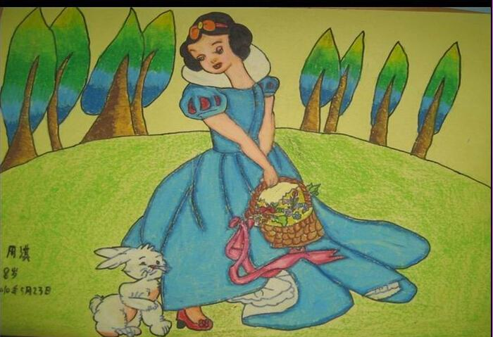 公主-蜡笔画图集3