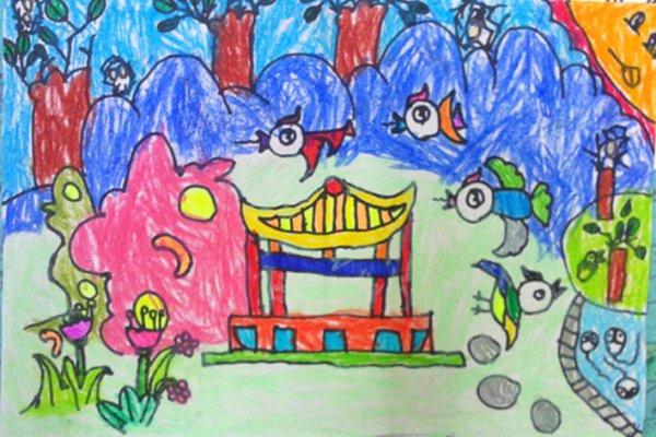 公园-蜡笔画图集