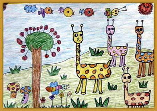 动物-蜡笔画图集7