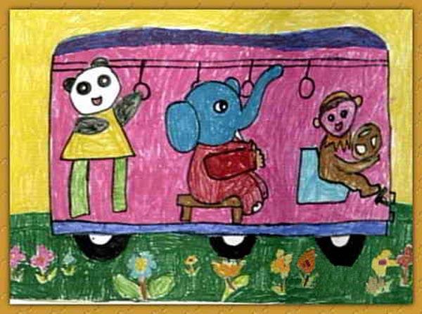 动物-蜡笔画图集8