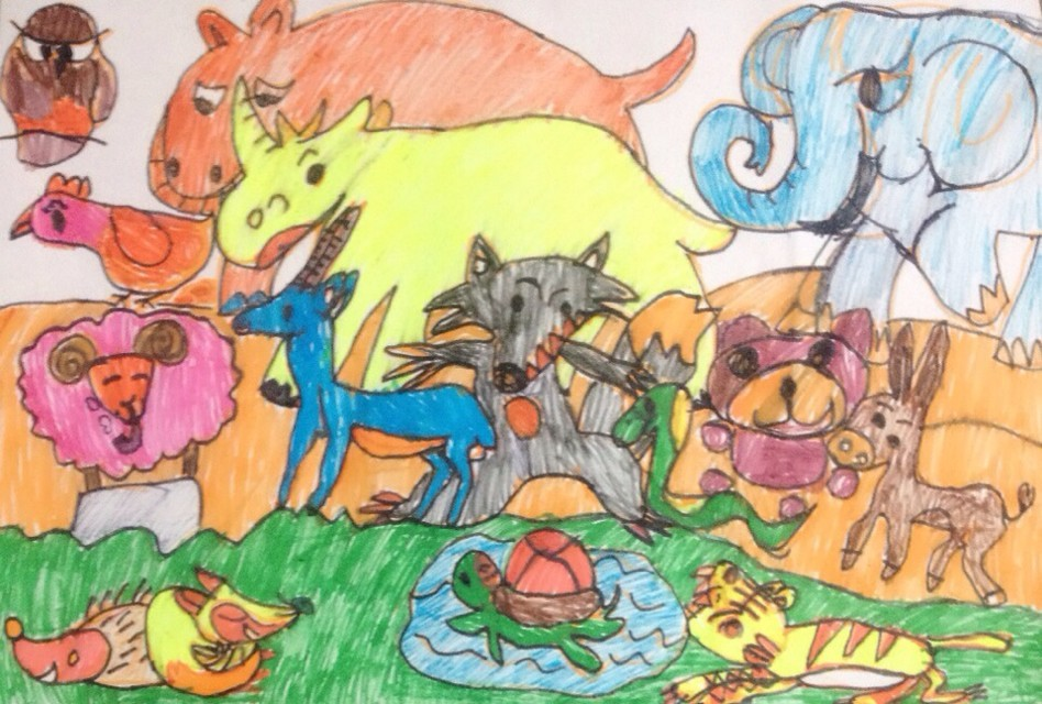 动物-蜡笔画图集10