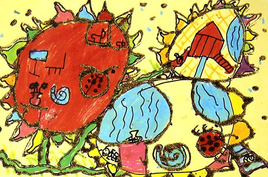 动物-蜡笔画图集12