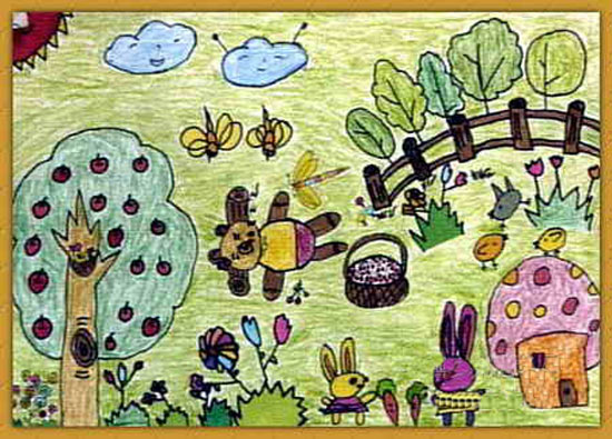 动物-蜡笔画图集13