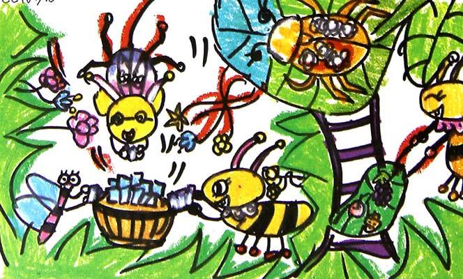 动物-蜡笔画图集14