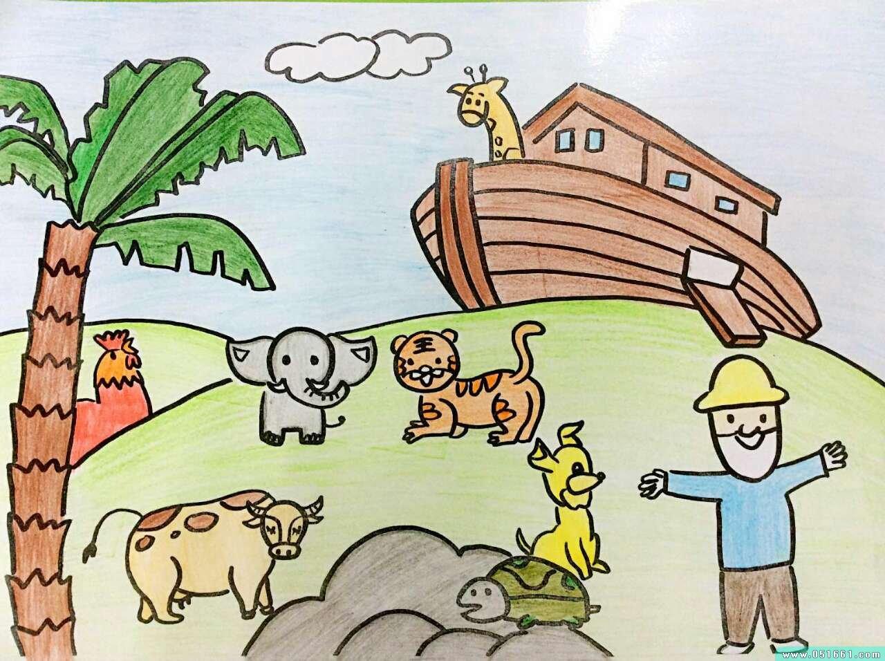 动物-蜡笔画图集18