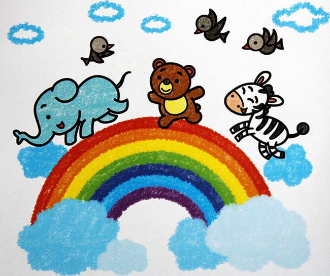 动物-蜡笔画图集19