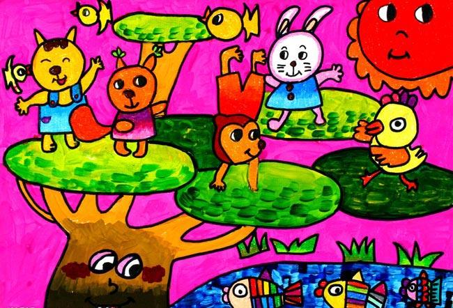 动物-蜡笔画图集20