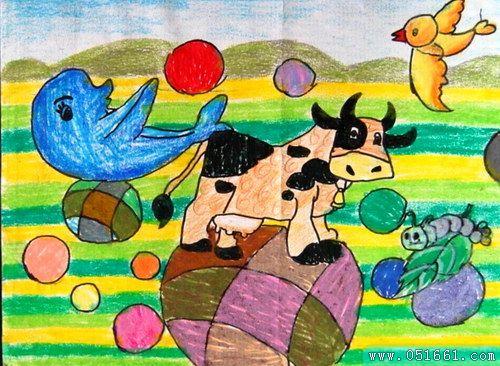 动物-蜡笔画图集22