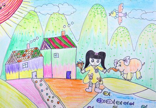 动物-蜡笔画图集24