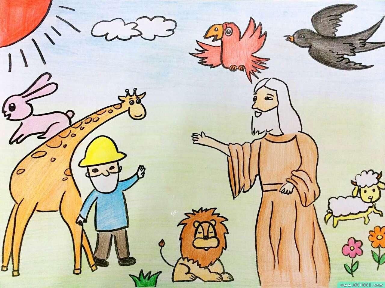 动物-蜡笔画图集25