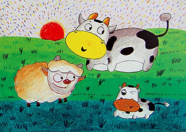 动物-蜡笔画图集26