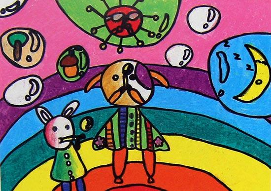 动物-蜡笔画图集27