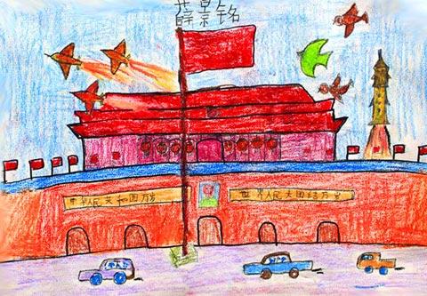 北京天安门-蜡笔画图集
