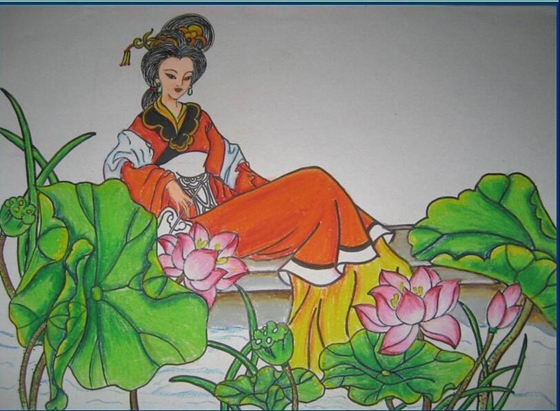 古代美女-蜡笔画图集