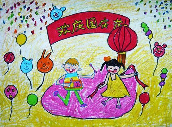国庆节-蜡笔画图集3