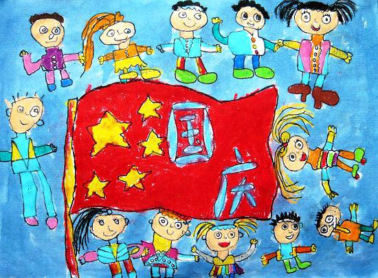 国庆节-蜡笔画图集5