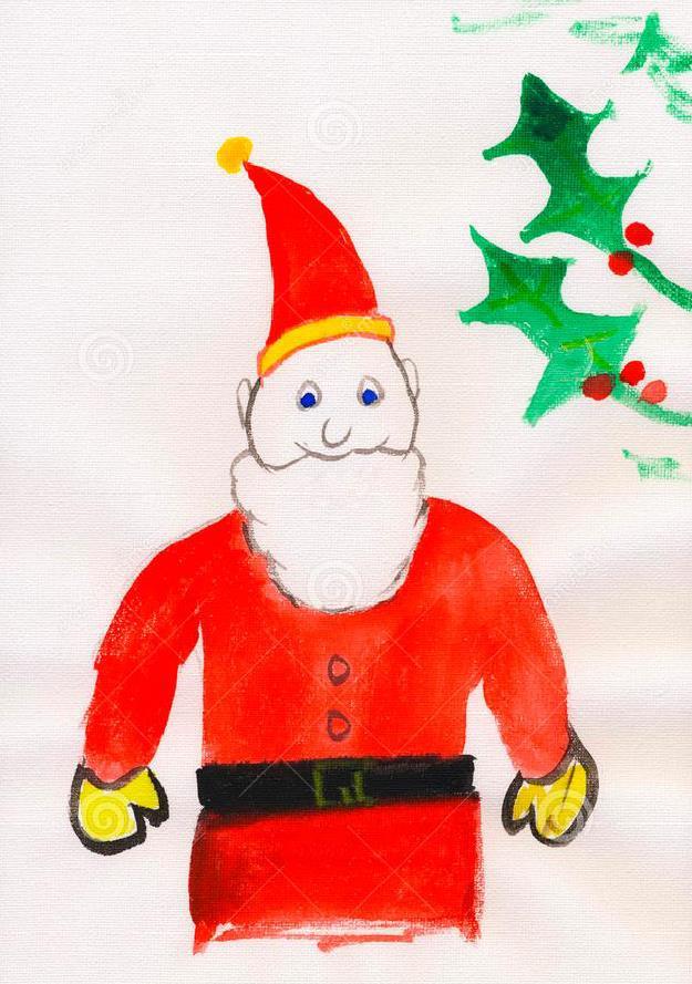 圣诞老人-蜡笔画图集