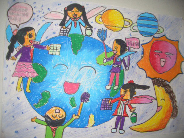地球-蜡笔画图集