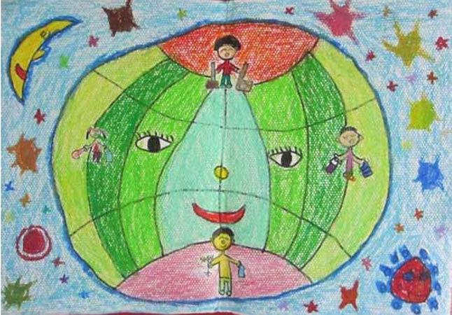 地球-蜡笔画图集7