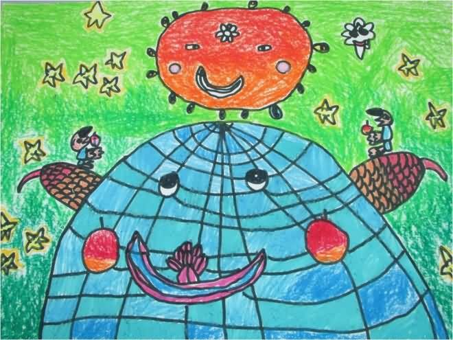 地球-蜡笔画图集8