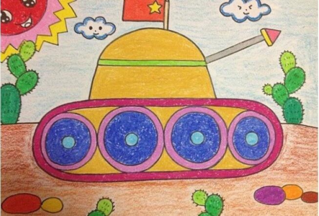 坦克-蜡笔画图集