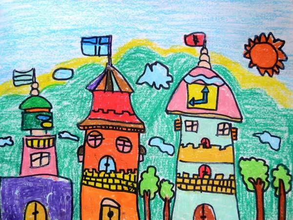 城堡-蜡笔画图集2
