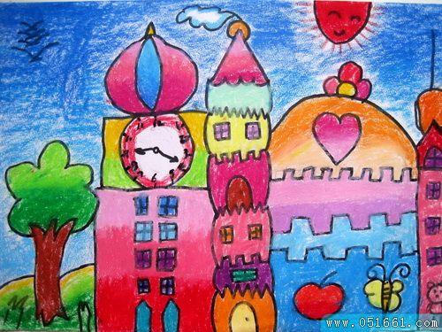 城堡-蜡笔画图集3