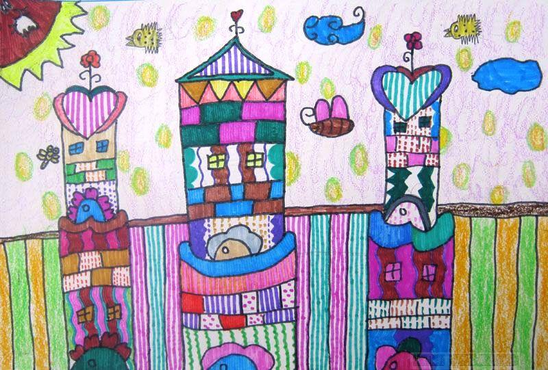城堡-蜡笔画图集4