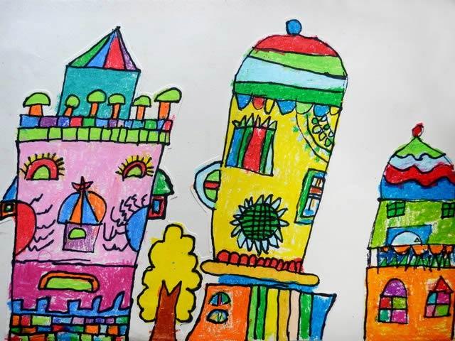 城堡-蜡笔画图集5