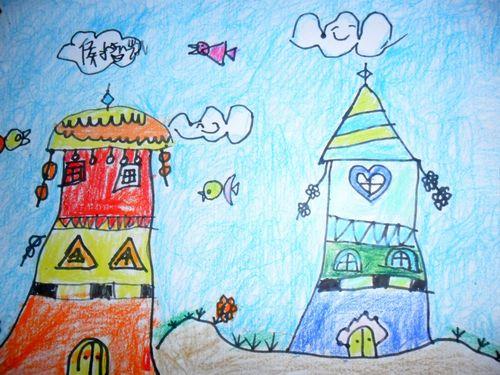 城堡-蜡笔画图集8