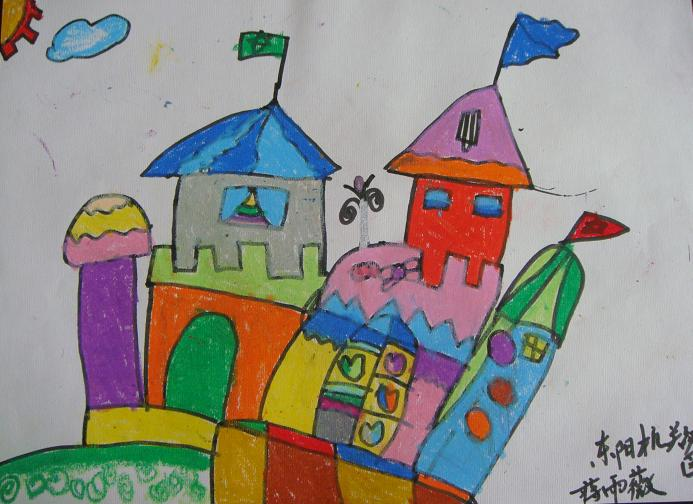 城堡-蜡笔画图集9
