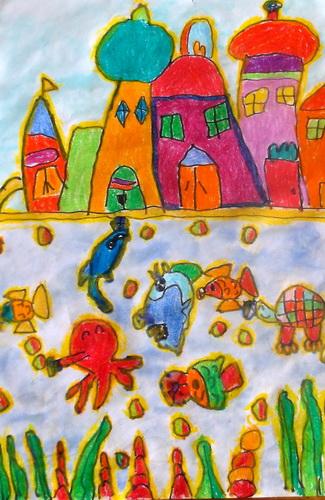 城堡-蜡笔画图集11