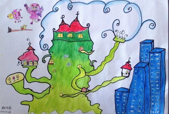 城堡-蜡笔画图集13