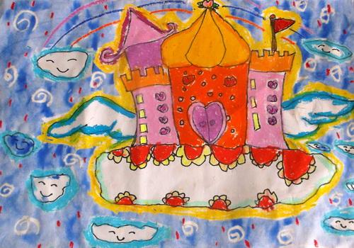 城堡-蜡笔画图集14