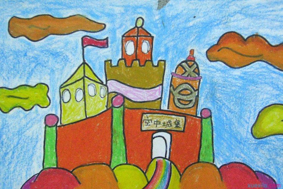 城堡-蜡笔画图集15