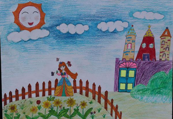 城堡-蜡笔画图集16