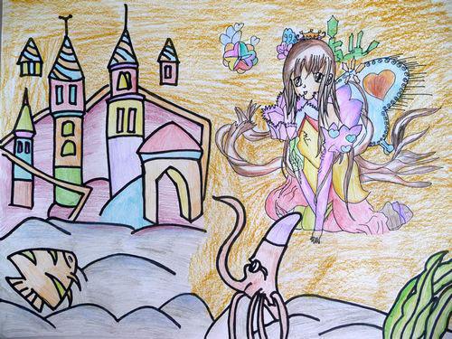 城堡-蜡笔画图集17