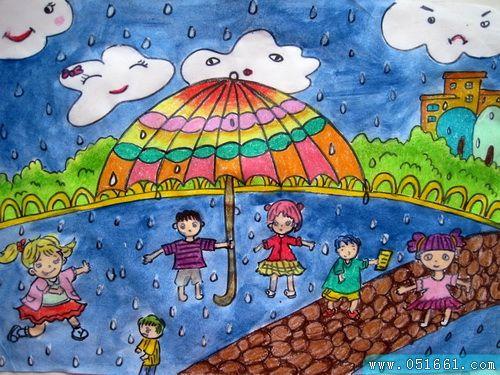 夏天-蜡笔画图集