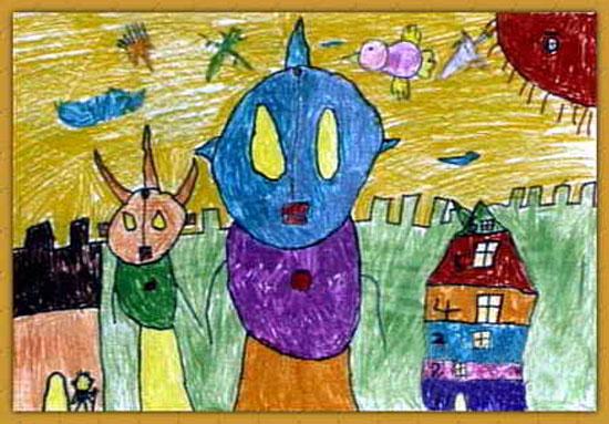 外星人-蜡笔画图集2