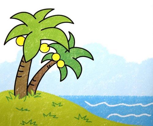 大树-蜡笔画图集3