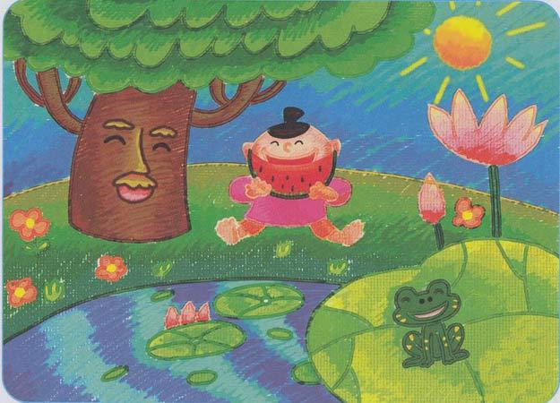 大树-蜡笔画图集10
